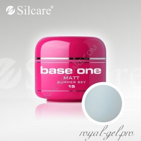 Цветной гель Silcare Base One Matt Summer Sky *15 5 гр.