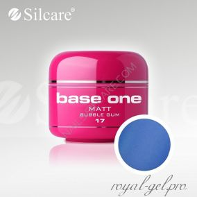 Цветной гель Silcare Base One Matt Bubble Gum *17 5 гр.