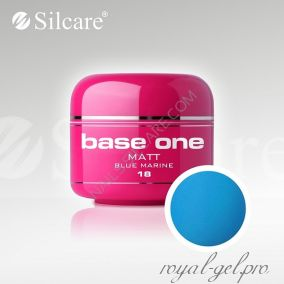 Цветной гель Silcare Base One Matt Blue Marine *18 5 гр.
