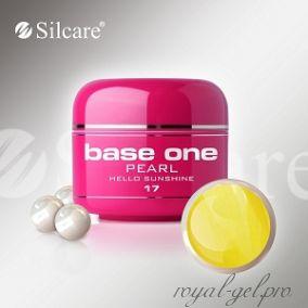 Цветной гель Silcare Base One Pearl Helloo Sunshine *17 5 гр.