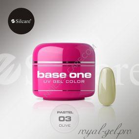 Цветной гель Silcare Base One Pastel Olive *03 5 гр.
