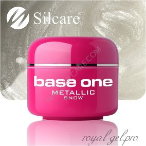 Цветной гель Silcare Base One Metallic Snow *01 5 гр.