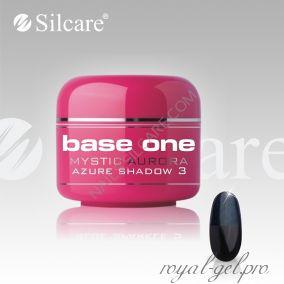 Цветной гель Silcare Base One Mystic Aurora Azure Sparkle *03 5 гр.