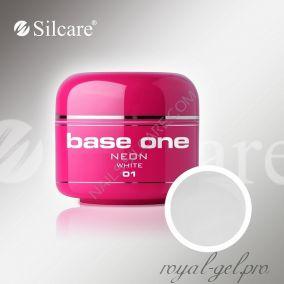 Цветной гель Silcare Base One Neon White *01 5 гр.