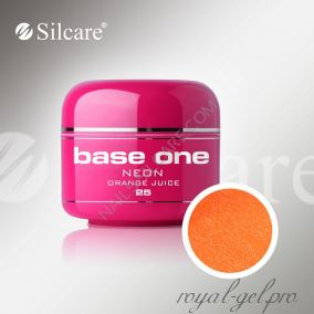 Цветной гель Silcare Base One Neon Orange Juice *25 5 гр.