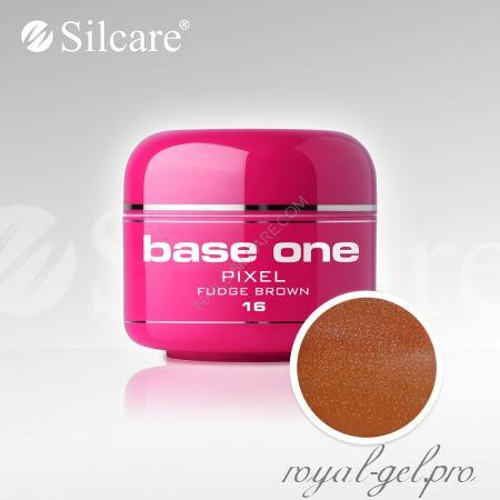 Цветной гель Silcare Base One Pixel Fudge Brown *16 5 гр.