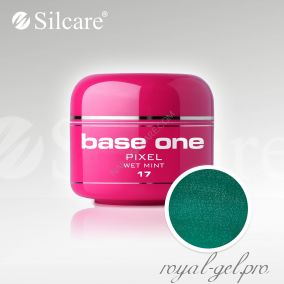 Цветной гель Silcare Base One Pixel Wet Mint *17 5 гр.