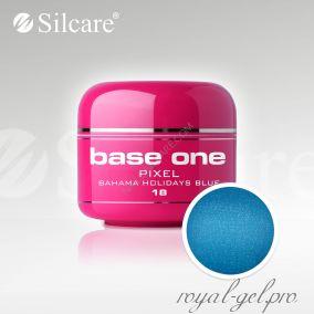 Цветной гель Silcare Base One Pixel Bahama Holidays Blue *18 5 гр.