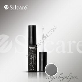 АРТ гель лак Silcare Base One Artisto Nail Art Grey Wolf *04 10гр