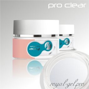 Акриловая пудра Sequent LUX Pro Clear Silcare 36 гр