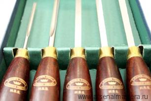 Резцы-мини токарные Crown HSS Miniature 250 мм рукояти  розовое дерево 158 мм 5 шт М00005018