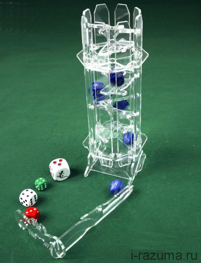 """Башня для бросков кубиков """"Хрустальная"""""""