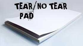 No Tear Pad (XL, 8.5 X 11, Tear/No Tear Alternating/ 50) by Alan Wong