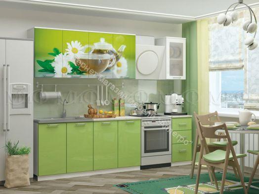 Кухонный гарнитур Ванильный чай/Эвкалипт 2,0