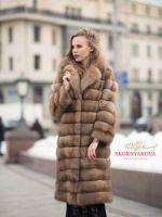 Купить шубу из куницы в Москве цена