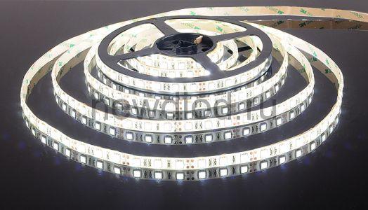 Сд лента 14.4Вт SMD5050-60LED 840Lm 12V IP33 6500K (холодный белый) PREMIUM OREOL
