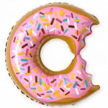 """Пончик, розовый, надкусанный, 26""""/ 66 см"""