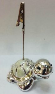Визитница Черепашка (глазурь, металл)
