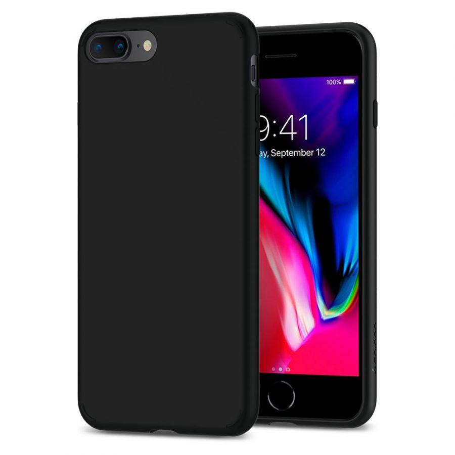 Чехол Spigen Liquid Crystal для iPhone 8 Plus матово-черный