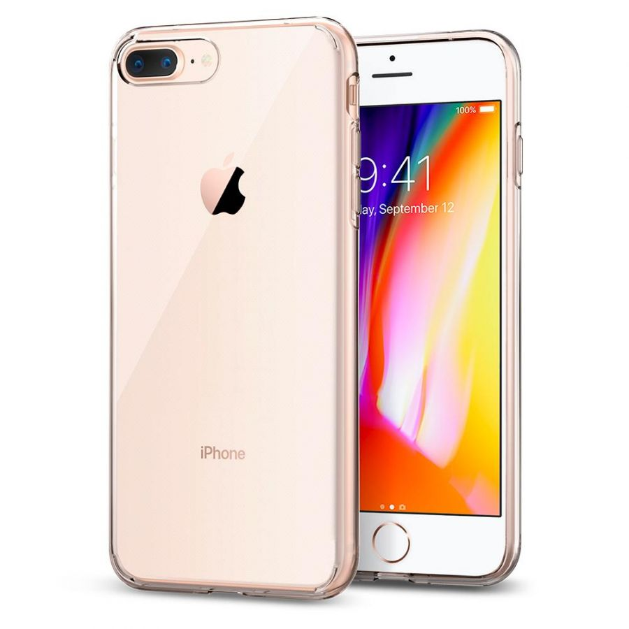 Чехол Spigen Liquid Crystal для iPhone 8 Plus кристально-прозрачный