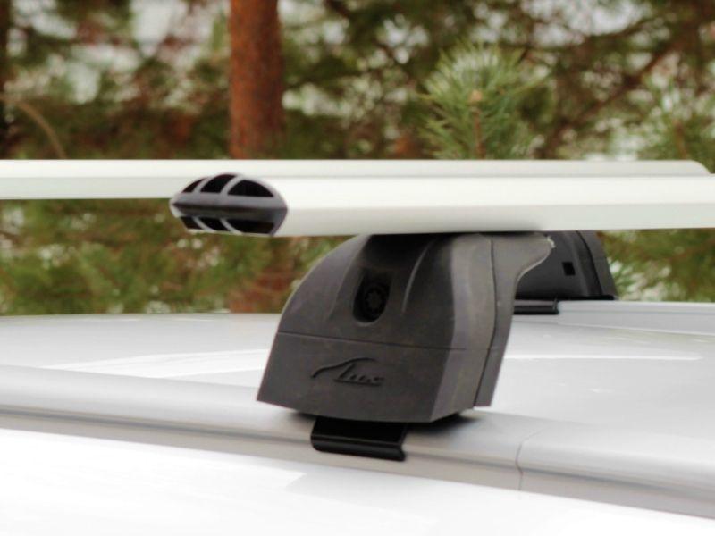 Багажник на крышу Lifan Myway 2016-..., Lux, аэродинамические дуги (73 мм) на интегрированные рейлинги