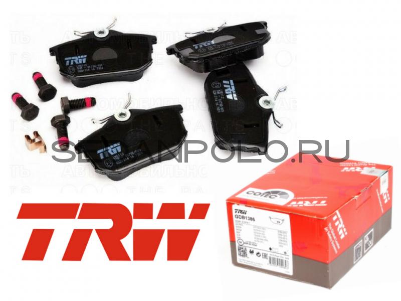 Колодки тормозные задние TRW для Volkswagen Polo Sedan