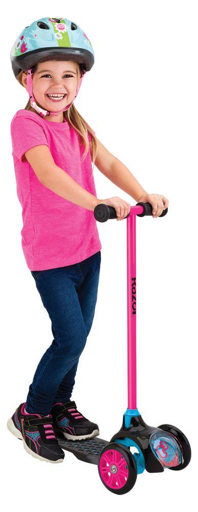 Самокат Razor T3 розовый купить недорого