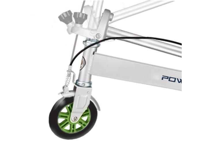 Тридер - самокат Razor Powerwing DLX, серебристый