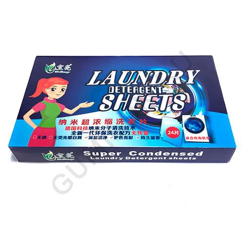 Инновационный стиральный порошок в формате листов Laundry Detergent Sheets, 24 шт