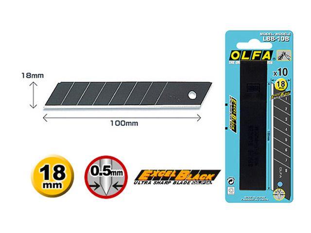 лезвие д/ножа OLFA Black Max сегментное 18мм 10шт
