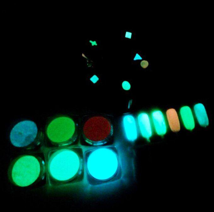 Светящийся в темноте порошок (разные цвета)