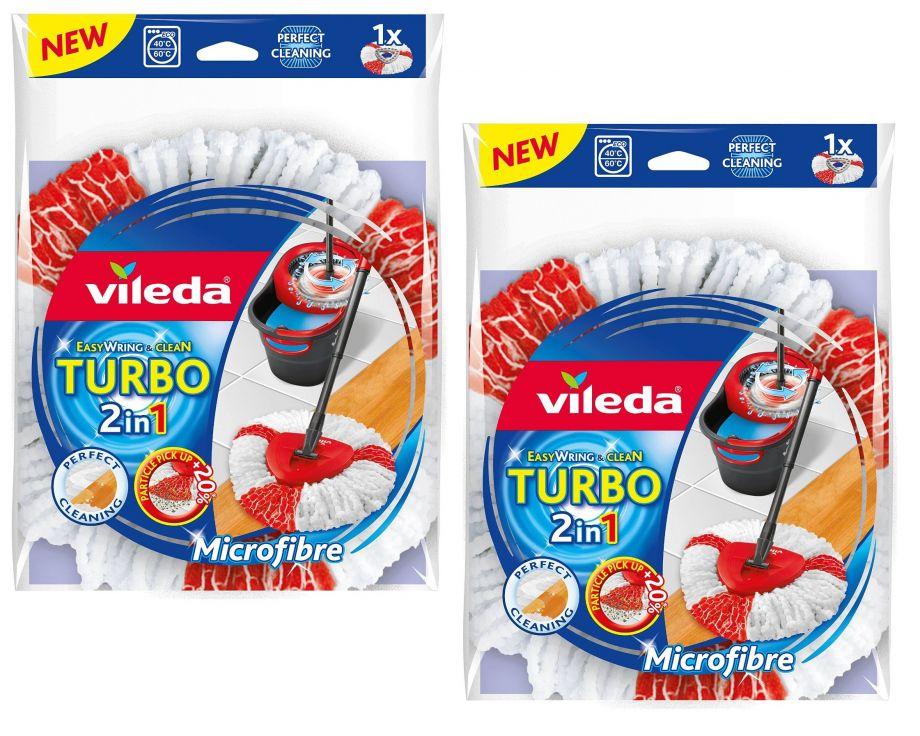 2 запасные насадки к швабре Vileda Easy Wring Турбо ( красные нити )