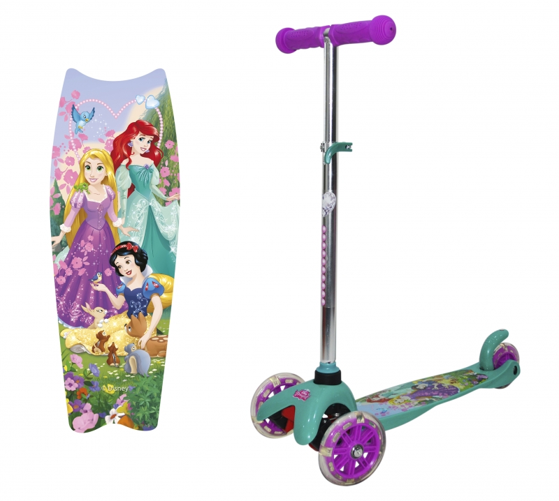 """Самокат трёхколёсный 1TOY """"Disney Принцессы"""" (2018)"""