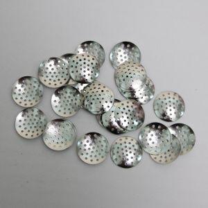 """`Основа """"Ситечко"""", размер 20 мм, цвет: серебро"""