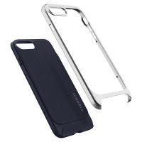 Чехол Spigen Neo Hybrid Herringbone для iPhone 8 Plus серебристый