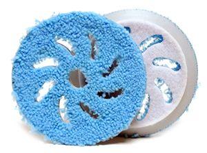 Rupes Микрофибровый грубый полировальный диск (CUTTING PAD) для системы BIG FOOT, 80/100мм., голубой