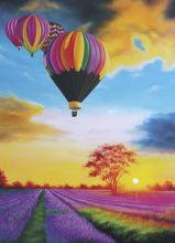 Почтовая открытка Воздушные шары на закате