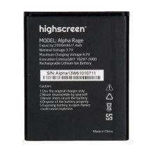Аккумулятор для телефона Highscreen Alpha Rage 1500mAh