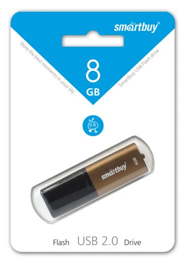 USB накопитель Smartbuy 8GB X-Cut Brown