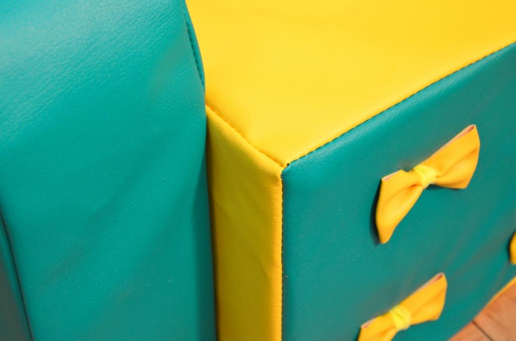 """Набор детской мягкой мебели """"Машенька"""", 3 элемента, прошивка бантики"""