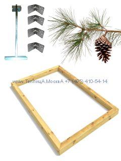 Фундамент 2,7 x 4 сосна строганный сухой брус 100 х 100 мм