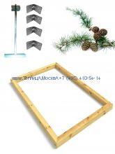 Фундамент 5,6 x 8 лиственница строганный сухой брус 100 х 100 мм