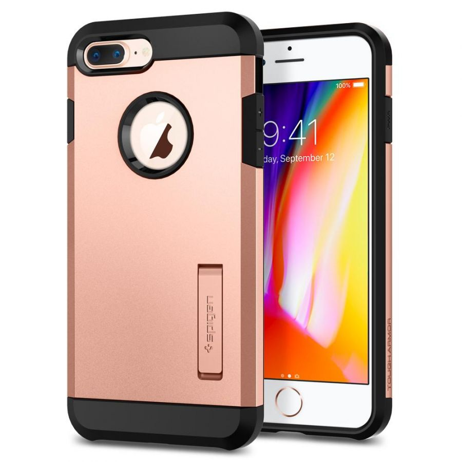 Чехол Spigen Tough Armor 2 для iPhone 8 Plus румяное золото