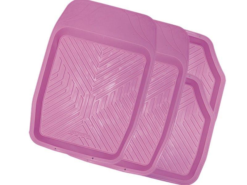 Коврики салона универсальные AUTOPROFI GROOVE ванночки (к-т 4 шт), PINK розовый TER150PINK Autoprofi