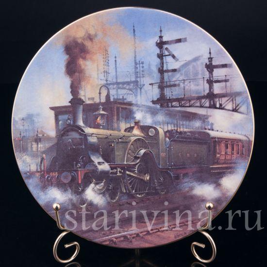 Изображение Декоративная тарелка Паровоз Стирлинга, Caverswall, Англия, 1981 г