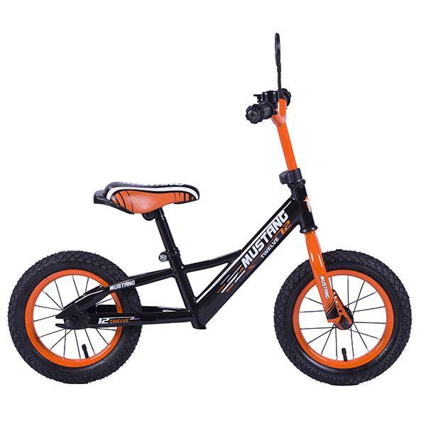 """Беговел 12"""" черно-оранжевый"""