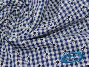 Рубашечная ткань клетка принт VT-9825/D2/C#4