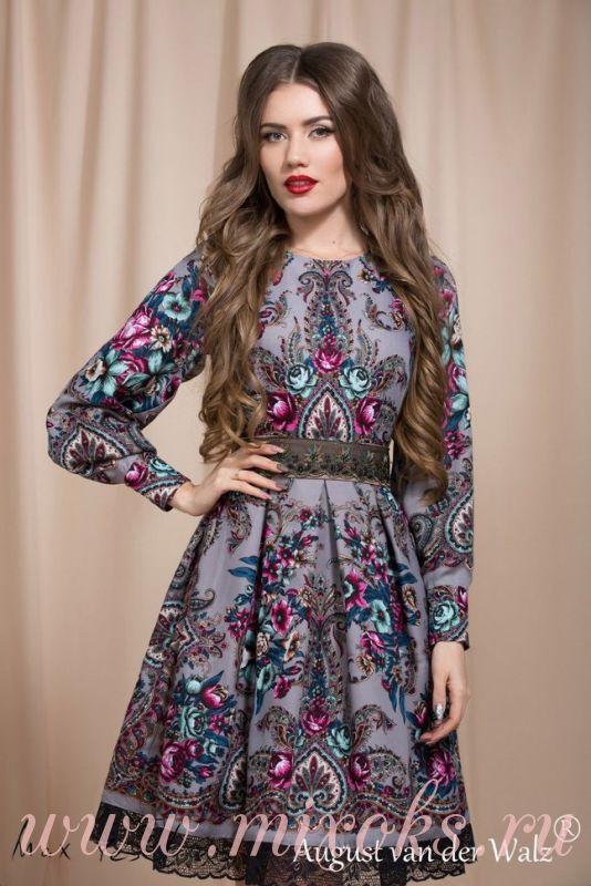 Платье бохо с кружевом