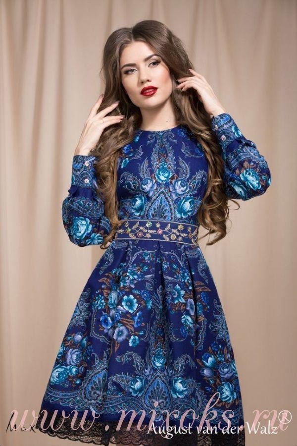 Платье бохо русское
