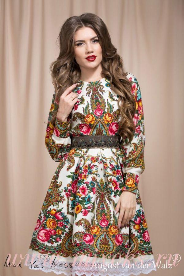Платье бохо в русском стиле